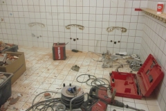 Abriss der alten Sanitäranlagen
