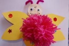 PomPom Schmetterling zum Muttertag