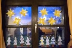 Weihnachtliche Fensterbilder