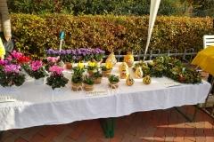 Herbstmarkt 2019, Blumen, Zierkürbisse, Kränze