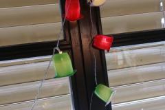 Lichterkette mit Fruchtzwerge-Schirmchen